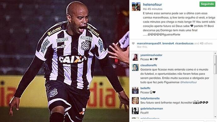 thiago heleno rede social figueirense (Foto: Reprodução)