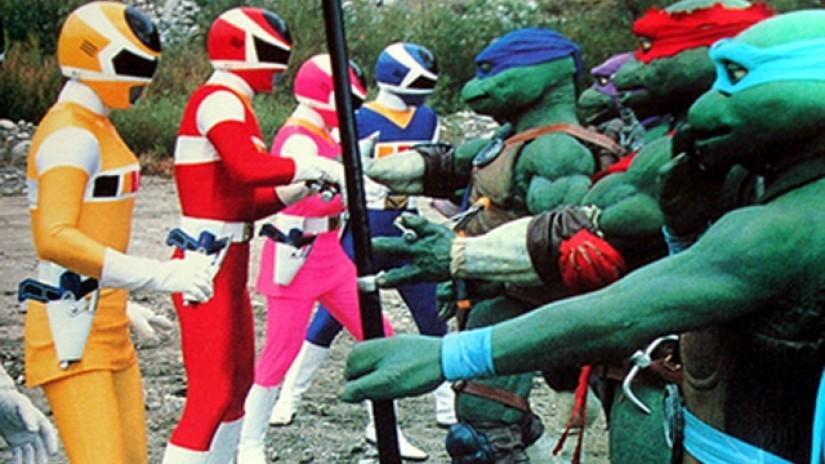 Rangers e tartarugas neste mashup especial (Foto: Divulgação)