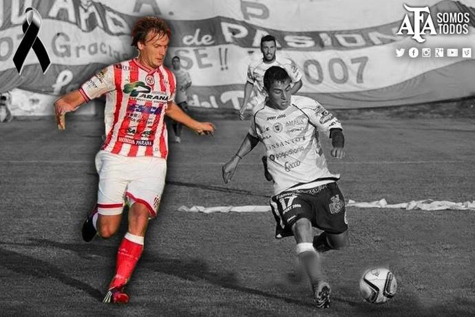 Cristian Gómez homenagem AFA (Foto: Reprodução de Twitter)