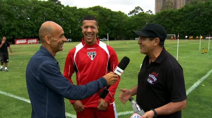 Régis Rösing, Ântonio Carlos e Muricy Ramalho (Foto: Reprodução TV Globo)