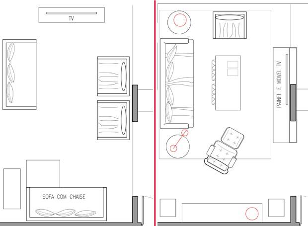 Sala De Tv Planta Baixa ~ Mudar a TV de lugar transforma o ambiente
