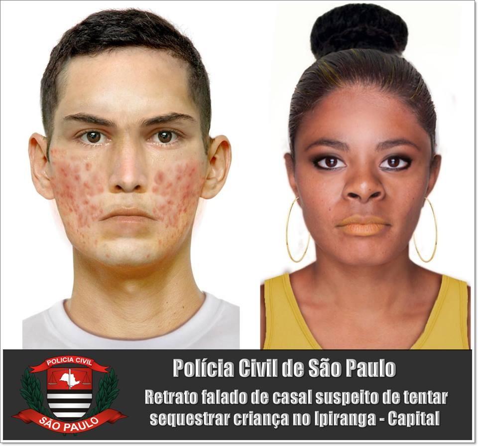 retrato falado (Foto: Polícia Civil)