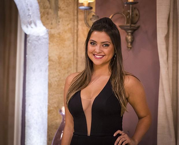 Polliana Aleixo na novela Em Família, na pele da personagem Bárbara (Foto: Paulo Belote / TV Globo)