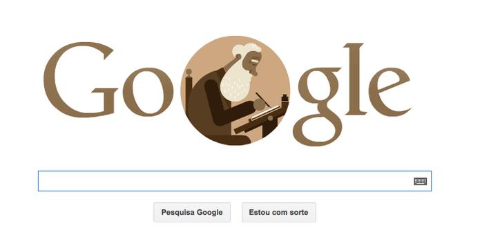 Doodle do Google celebra 175º Aniversário do Ernesto Carneiro Ribeiro  (Foto: Reprodução/Google)