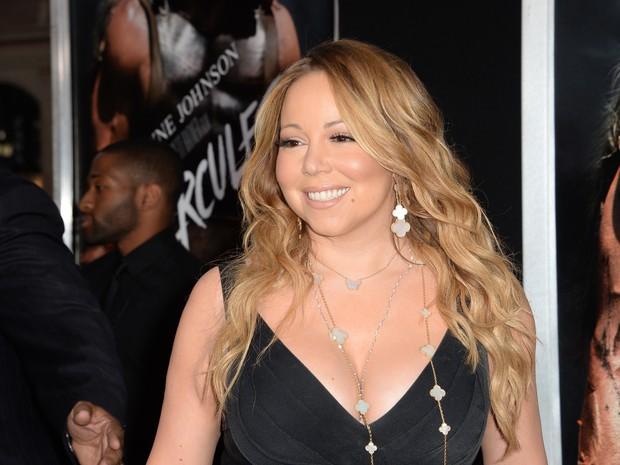 Mariah Carey em première em Los Angeles, nos Estados Unidos (Foto: Robyn Beck/ AFP)