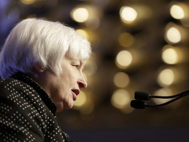A presidente do Federal Reserve, Banco Central dos Estados Unidos, Janet Yellen (Foto: Joshua Roberts / Reuters)