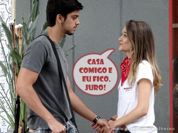 Fatinha quer casar, Fatinha é pra casar, glr! (Foto: Malhação/ TV Globo)