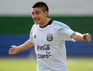 Adrián Martínez treino Argentina Sub-20 (2011) (Foto: AFP)
