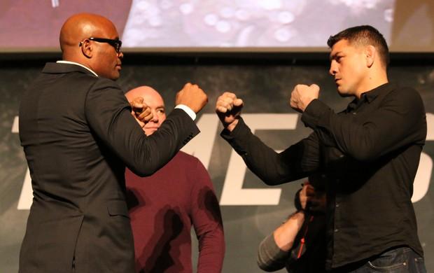 Anderon Silva x Nick Diaz encarada UFC (Foto: Evelyn Rodrigues)