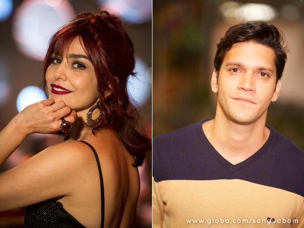 Letícia Sabatella e Armando Babaioff estão na torcida por seus personagens (Foto: Divulgação/TV Globo)