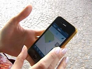 Aplicativo táxi Uberlândia (Foto: Reprodução/TV Integração)