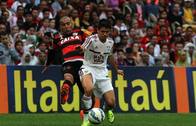 Emerson Sheik e Osvaldo - Fluminense x Flamengo (Foto: Nelson Perez / Fluminense FC)