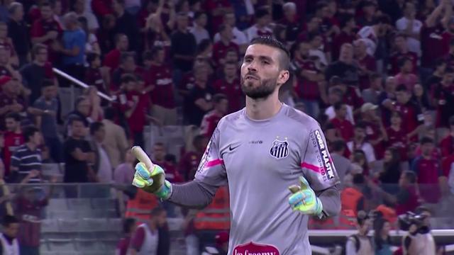 Santos empata com Atlético Paranaense (Foto: Reprodução/TV Tribuna)