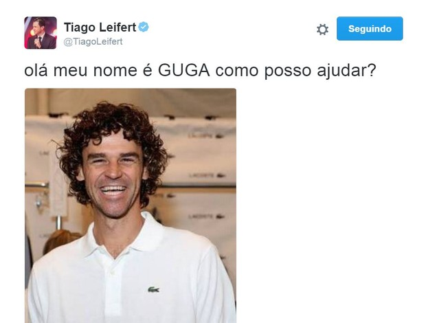 Memes sobre a alegria de Gustavo Kuerten, o Guga (Foto: Reprodução/Twitter)