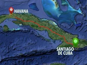 Casal de ciclistas mostrou trajeto em viagem a Cuba (Foto: Reprodução/ TV Gazeta)