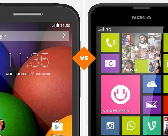Moto E ou Lumia 630? Veja quem leva a melhor no comparativo (Foto: Arte/TechTudo)