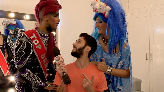Diego foi conhecer o mundo das Drag Queens.  (Foto: Divulgação / TV Gazeta ES)