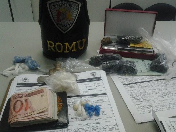 Seis pessoas vendendo drogas na ciclovia da Zona Norte (Foto: Divulgação/Guarda Civil Metropolitana)