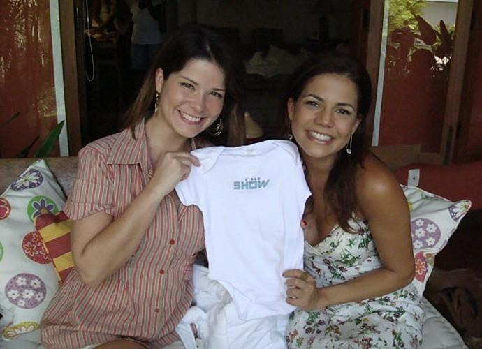 Nívea Stelmann e Samara Felippo se conheceram nos sets de gravação (Foto: Rafael Firmeza / TV Globo)