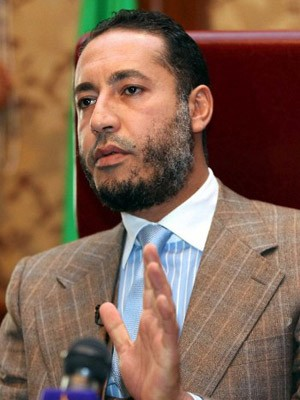 Saadi Kadhafi, filho do ex-ditador líbio Muammar Kadhafi (Foto: AFP Photo/Mahmud Turkia/Arquivo)