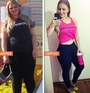 euatleta minha historia Amanda Dálio antes depois (Foto: Eu Atleta | Arte | fotos: arquivo pessoal)