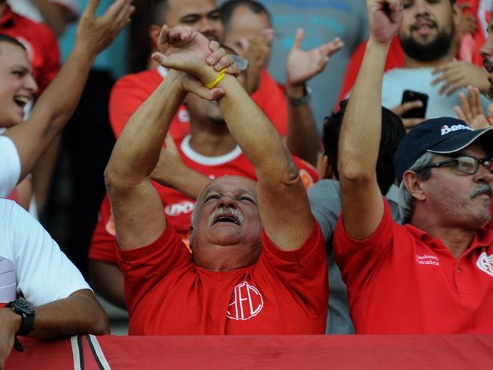 A fiel torcida do America comemora mais uma ano de existência  do clube nesta sexta (Foto: Sandro Vox/America Rio)