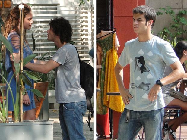 Gil vê discussão entre Valentina e Dinho e fica desconfiado (Foto: Malhação / Tv Globo)