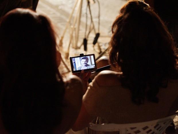Paloma e Totia ficaram ligadas na novela durante o intervalo das gravações no Centro (Foto: Salve Jorge/TV Globo)