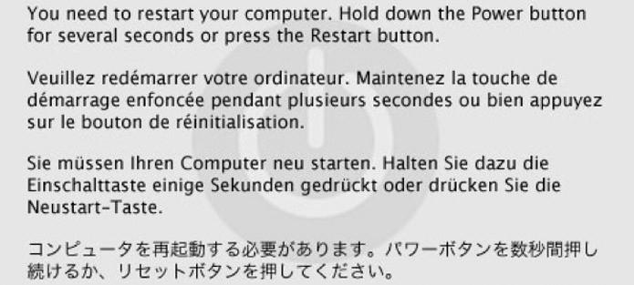 Problemas no kernel normalmente demandam a reinicialização do computador (Foto: Reprodução/Vinícius Sacramento)