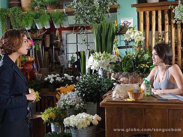 Amora vai atrás de Bento, mas dá de cara com Giane (Foto: Sangue Bom/TV Globo)