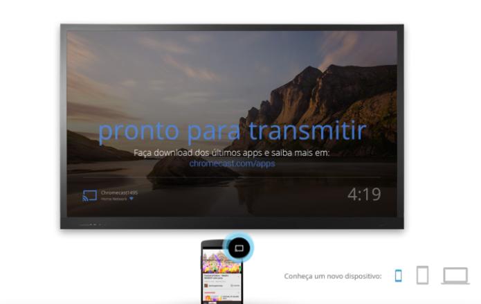 O Chromecast dispensa o uso do controle remoto (Foto: Divulgação)