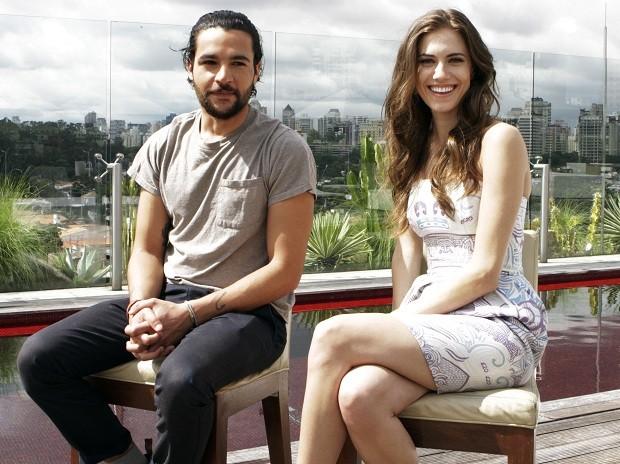 Christopher Abbot e Allison Williams, da série 'Girls', estiveram em São Paulo para divulgar segunda temporada (Foto: Divulgação/HBO)