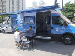 Unidade móvel do Sebrae estará em Guarujá, SP (Foto: Pedro Rezende / Prefeitura de Guarujá)