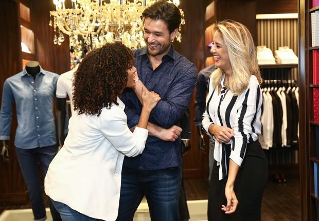 Tais Araújo, Sérgio Marone e Ticiane Pinheiro (Foto: Iwi Onodera e Manuela Scarpa/Brazil News)