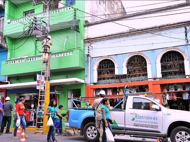 Fornecimento de energia foi cortado em loja após fiscalização (Foto: Divulgação/Eletrobras)