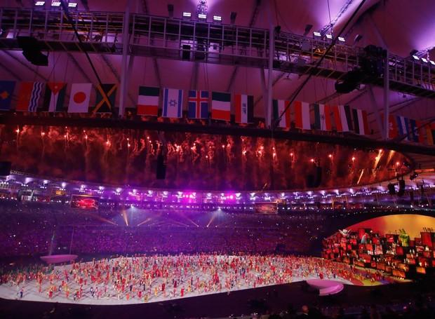Abertura dos Jogos Olímpicos Rio 2016 (Foto: Agência Brasil/Divulgação)