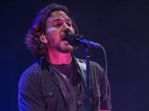Eddie Vedder, do Pearl Jam, canta no Lollapalooza São Paulo (Foto: Flavio Moraes/G1)