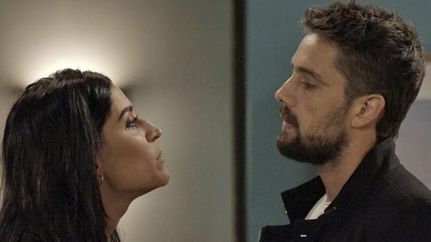 Sol Nascente: Carol ameaça denunciar César (Globo)