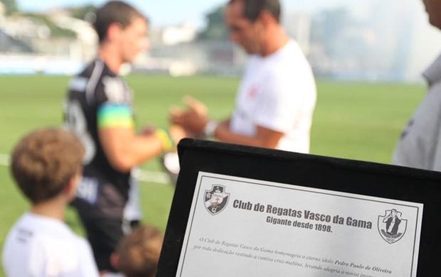 Pedrinho despedida Vasco x Ajax (Foto: Marcelo Sadio / Site Oficial do vasco)