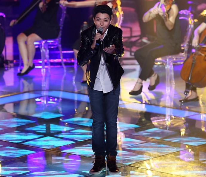 Wagner Barreto é a representante do Time Victor & Leo na Final do 'Kids' (Foto: Isabella Pinheiro/Gshow)