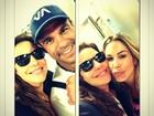 Ivete Sangalo encontra Vítor Belfort e Joana Prado em Miami: 'Casal Lindo'