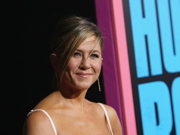 Jennifer Aniston em première em Los Angeles, nos Estados Unidos (Foto: David Buchan/ Getty Images/ AFP)