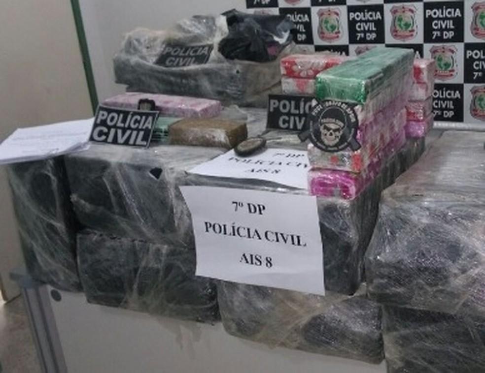 Droga era vendida em sorveteria em Fortaleza (Foto: Polícia Civil/Divulgação)