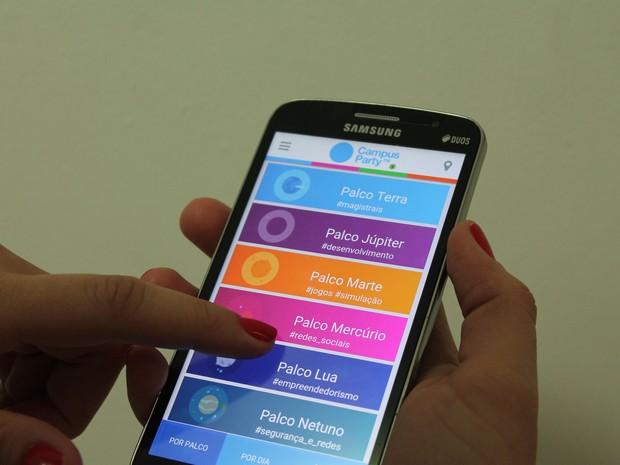 Aplicativo oficial da Campus Party possibilita gerenciar as atividades (Foto: Emerson Rocha/GloboEsporte.com)