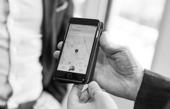 Imagem do aplicativo Uber. Nova modalidade, Uber Pool, deverá estrear em abril (Foto: Getty Images)