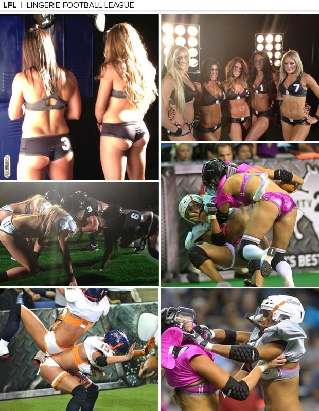 lingerie football league mosaico (Foto: Divulgação/LFL)
