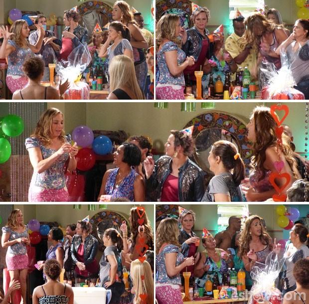 Amigos fazem festa de aniversário para Marali (Foto: Segunda Dama/TV Globo)