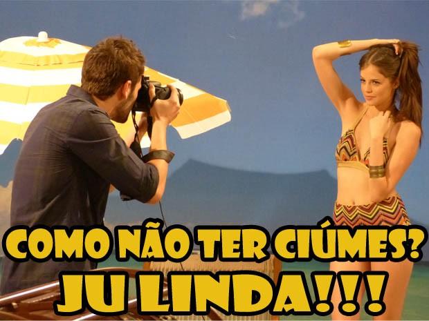 Ju em ensaio fotográfico (Foto: Malhação / TV Globo)