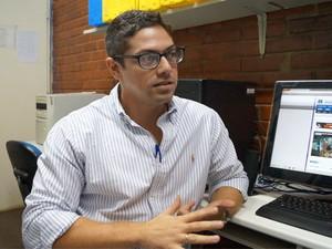 Delegado Filipe Caldas, responsável pelo caso do desaparecimento do professor (Foto: Divulgação/PC-AL)