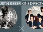 One Direction x Justin Bieber: G1 compara discos faixa a faixa; VÍDEO